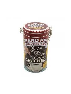 Boîte à café ronde « Tasse pour gaucher