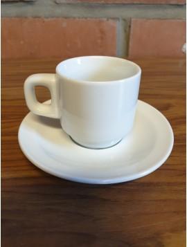 Tasse à café avec coupelle